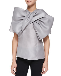 MARC by Marc Jacobs Mayu Bow-Front Organza Top