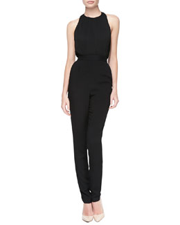 Alice + Olivia Angen T-Back Halter Jumpsuit