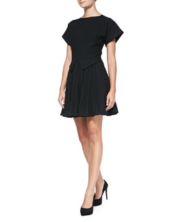 Elle Sasson Camilla Pleated Fit-and-Flare Dress