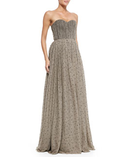 Alice + Olivia Surin Sequined Cinched-Waist Ball Gown