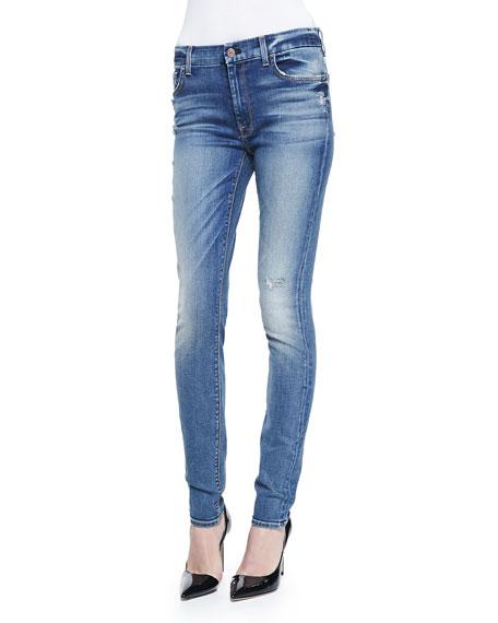 High-Waist Destroy Skinny-Leg Jeans