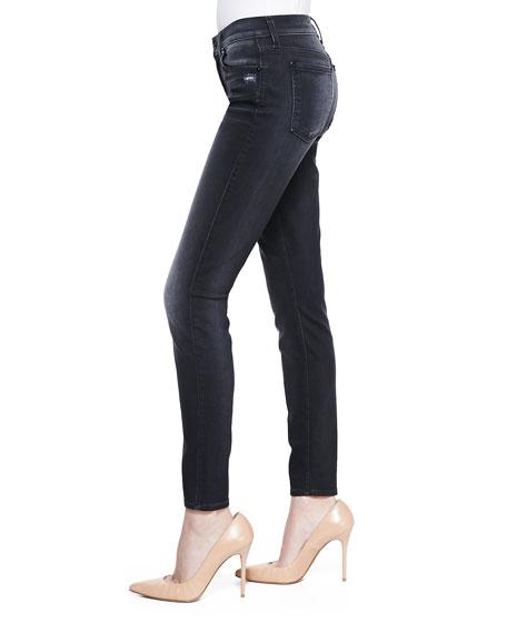High-Waist Ankle Skinny, Slim Illusion Storm Black