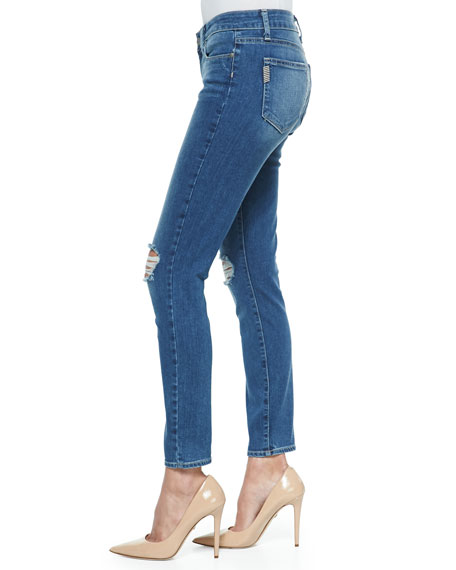 Verdugo Ankle Jeans with Distressed Knees