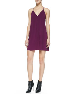 Alice + Olivia Fierra Racerback Chiffon Dress