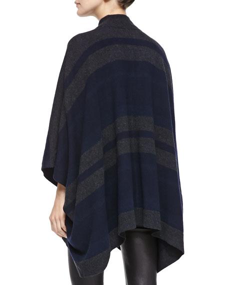 Florencia S Striped Oversize Poncho