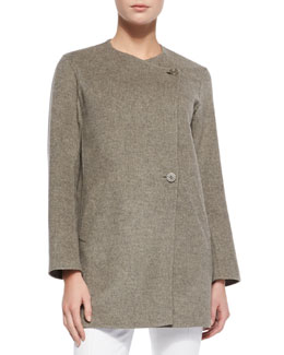 Theory Nyma Divide Asymmetric Two-Button Jacket