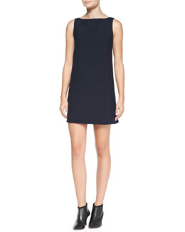 Theory Denata Sleeveless Crepe Dress