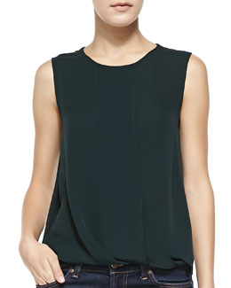 Theory Dellasi Sleeveless Blouse, Holly Green