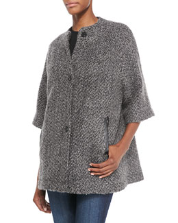 Joie Delphia Button-Front Jacket