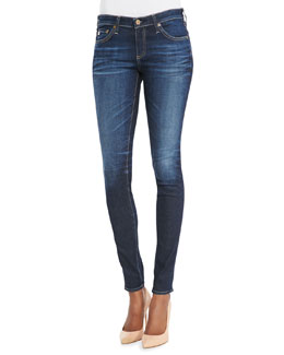 AG Adriano Goldschmied Absolute Mid-Rise Denim Leggings, 8 Years