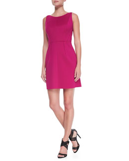 Milly Seamed Sleeveless Knit Dress