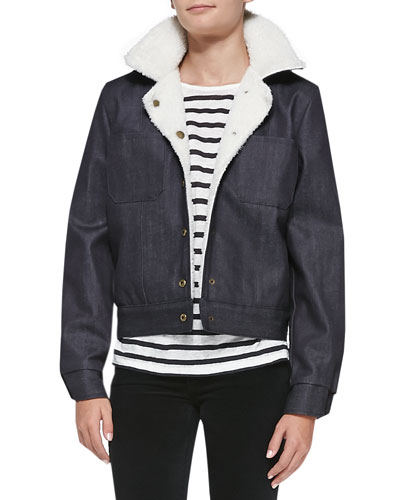 The Faux-Shearling Denim Jacket