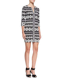 Diane von Furstenberg Rose Printed Tunic Dress