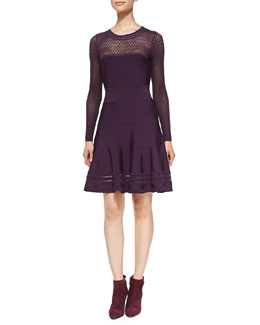 Diane von Furstenberg Body-Conscious Knit Fit-and-Flare Dress