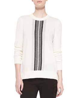 Vince Cashmere Regimental-Stripe Sweater