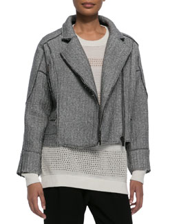 10 Crosby Derek Lam Sweater-Knit Moto Jacket