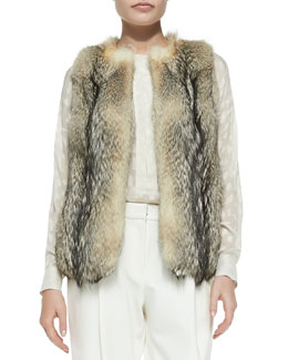 10 Crosby Derek Lam Fox Fur Vest