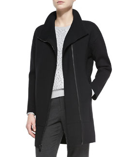 Vince Scuba Wool Sweater Coat