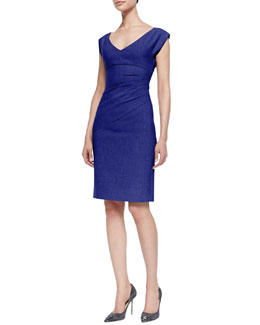 Diane von Furstenberg Bevin Gathered Suiting Dress