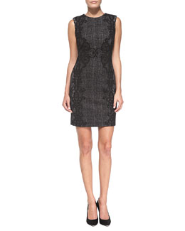Diane von Furstenberg Pentra Lace/Tweed Sheath Dress
