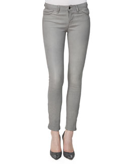 J Brand Jeans L8001 Leather Leggings, Gray Rock