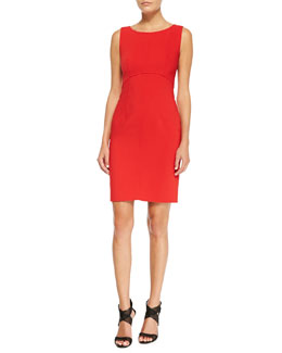 Milly Sleeveless Seamed Sheath Dress