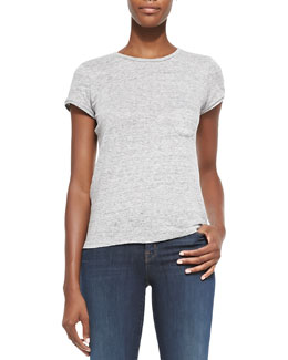 J Brand Ready to Wear Jade Slub Pocket Tee