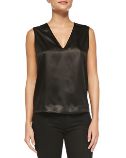 J Brand Ready to Wear Riley Sleeveless Snake Print-Front Top