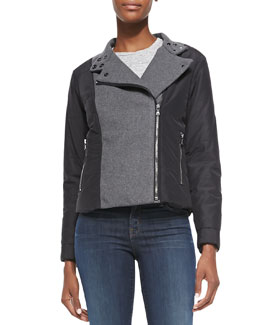 J Brand Ready to Wear Sean Felt/Tech-Fabric Jacket
