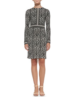 Tory Burch Deborah Printed Silk Dress