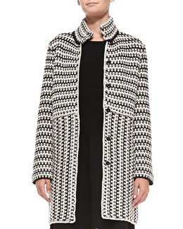 Tory Burch Maxeen Knit Sweater Coat