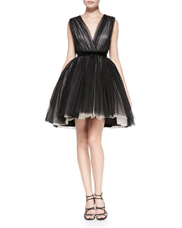 Alice + Olivia Princess Mesh/Tulle Pouf Dress
