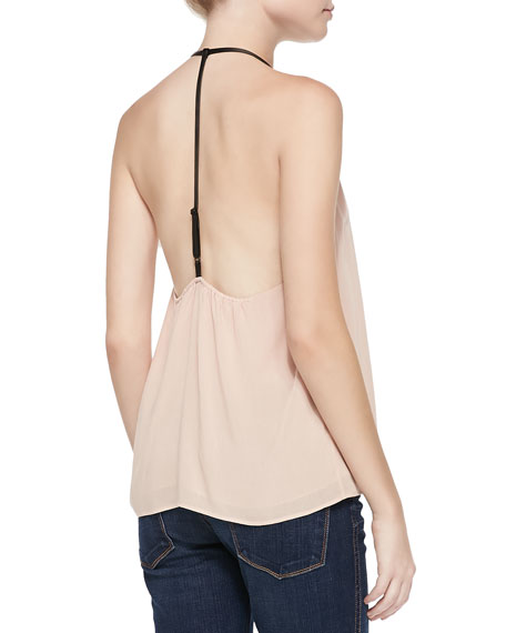 Guenda Leather-Strap T-Back Tank