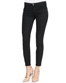 J Brand Jeans Tali Zipper-Cuff Skinny Jeans, Vanity