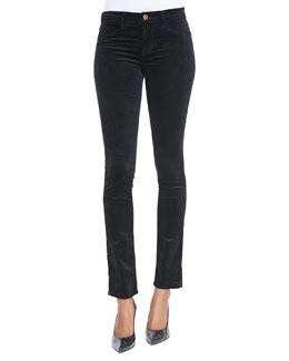 J Brand Jeans Velvet Rail Mid-Rise Pants