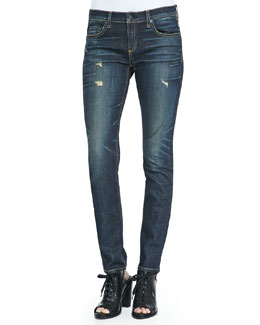 rag & bone/JEAN Dre Distressed Whiskered Slim Jeans