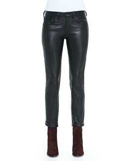 rag & bone/JEAN Dre Straight-Leg Leather Pants