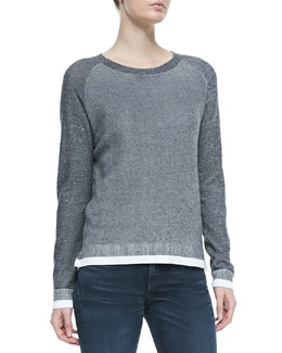 rag & bone/JEAN Brenda Combo-Knit Crewneck Sweater