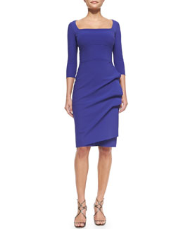 La Petite Robe di Chiara Boni Amy 3/4-Sleeve Sheath Dress, Purple