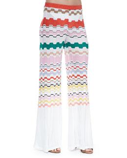 Missoni Wavy-Pattern Pull-On Pants