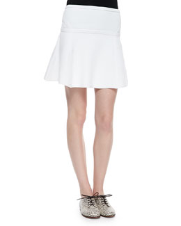 Flote Rib-Trim Fit-and-Flare Skirt