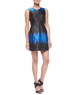 Milly Coco Sleeveless Ombre-Print Dress