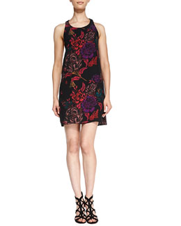 Alice + Olivia Liz Back-Twist Keyhole Dress