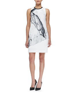 Helmut Lang Hydra Sleeveless Printed Crepe Dress