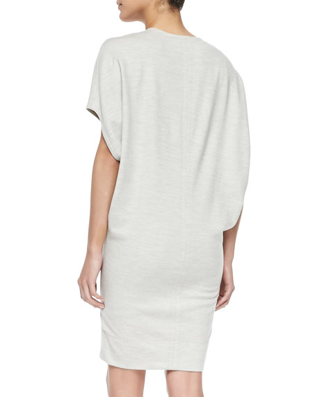 Sonar Wool V-Neck Easy Dress, Felsic