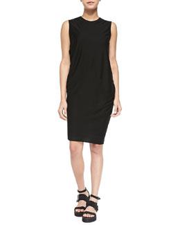 Sync Sleeveless Draped Jersey Dress, Black