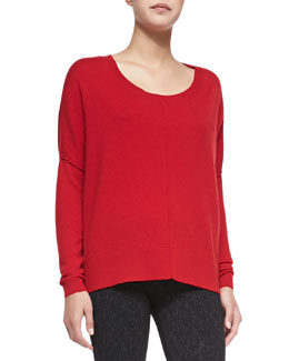 Narcisse Raised-Seam Loose Sweater