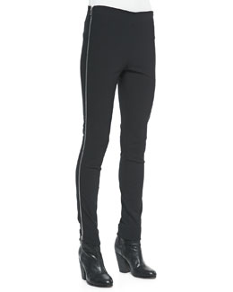 Chatel Skinny Side-Zip Pants