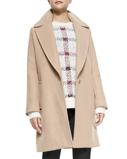 Theory Razan Long Felt Coat