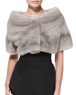 Monique Lhuillier Mink Fur Wrap